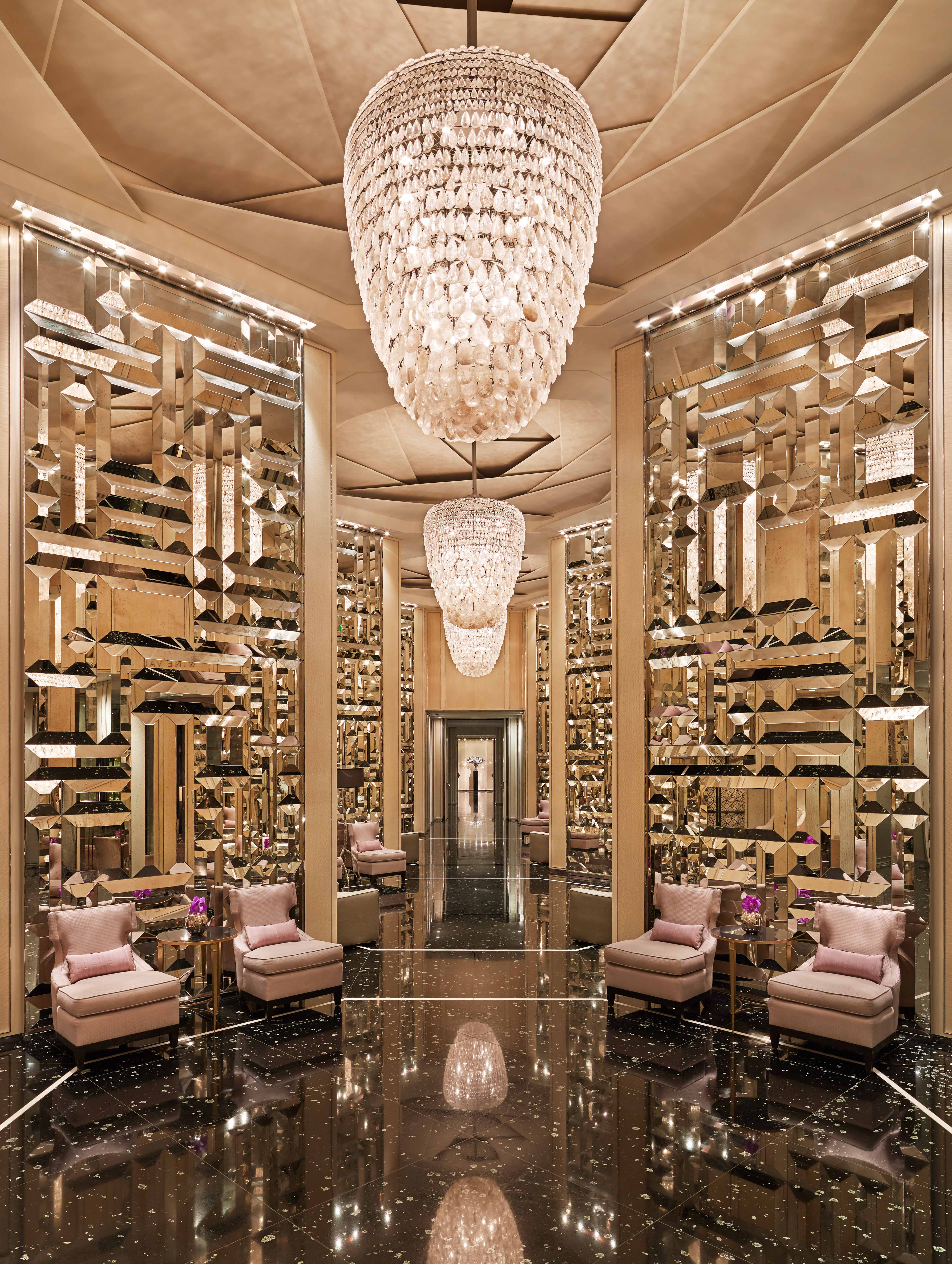 Photo of the lobby of the St. Regis Bal Harbour Florida.